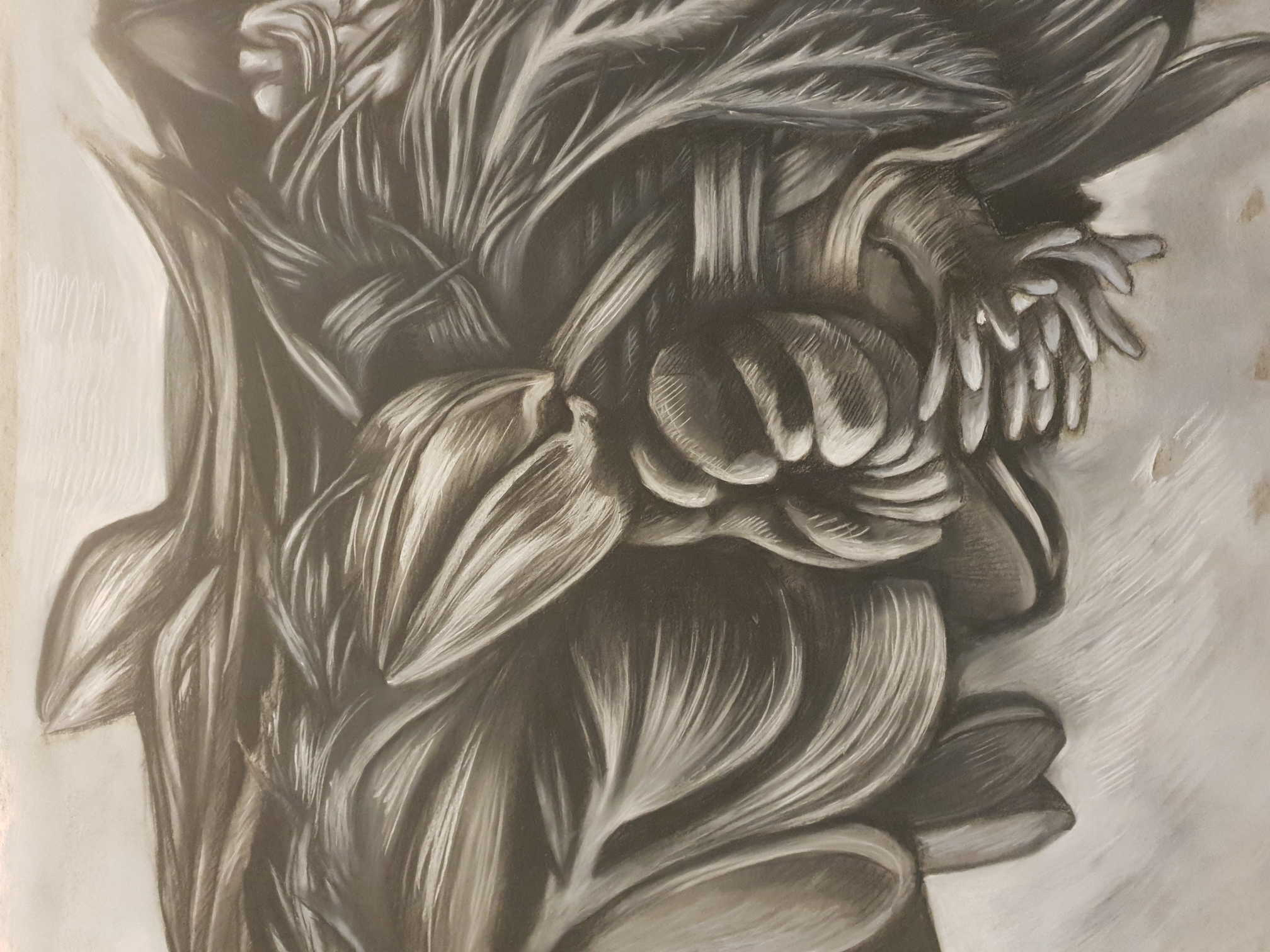 Herbiers marins (détails) – 120 x 120 cm