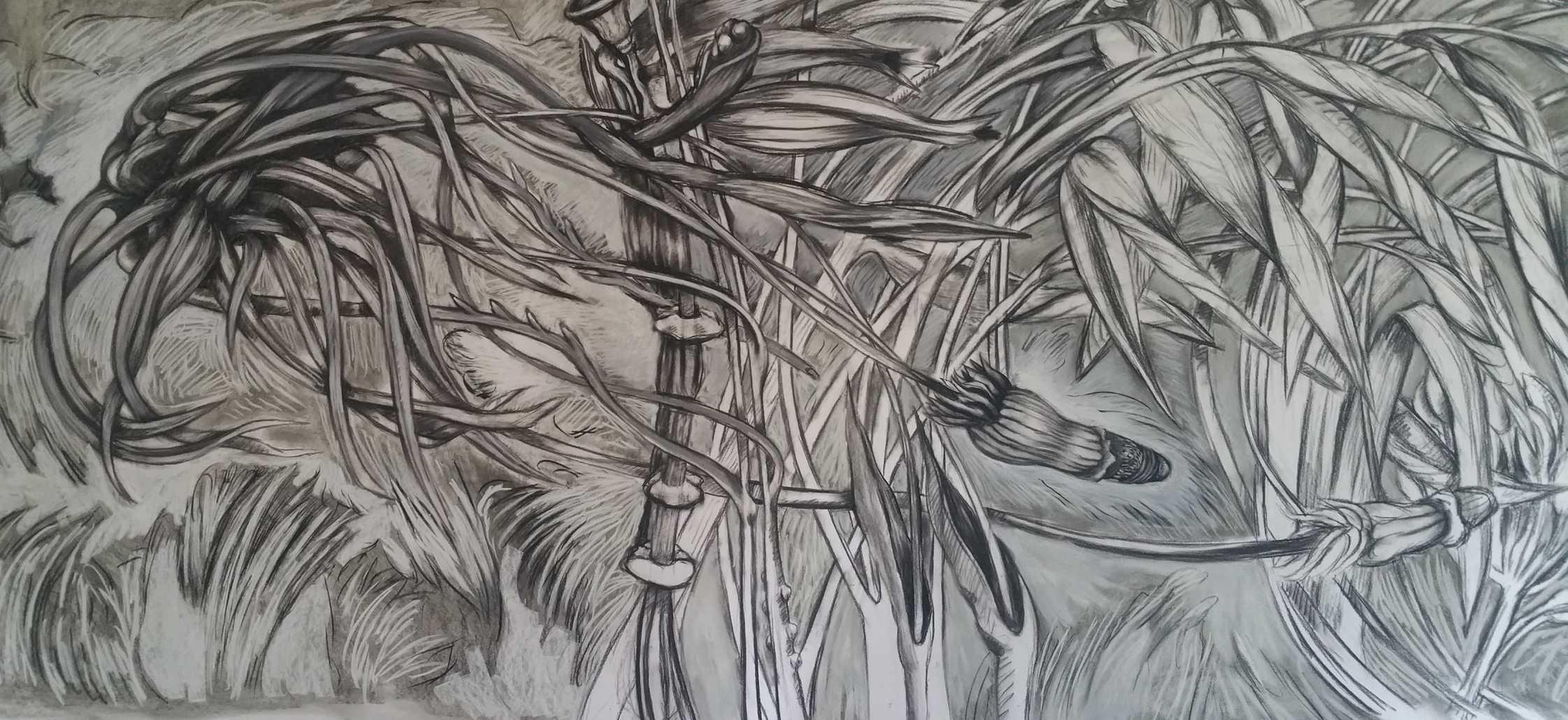 Jungles (détail) – 700 x 150 cm